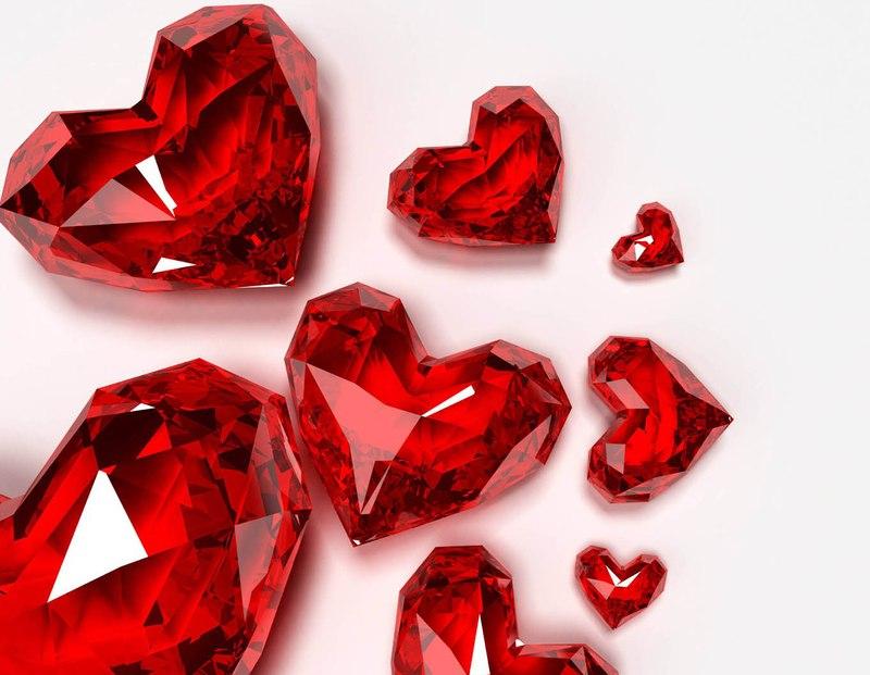 рубиновые сердечки